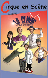 Affiche du spectacle La Clinic, spectacle burlesque